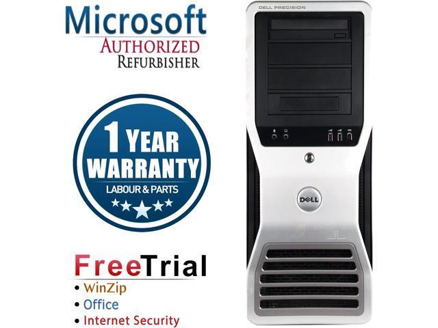 Refurbished DELL Precision T7500 Workstation Tower Intel Xeon E5620 2.4G / 8G DDR3 / 2TB / DVD / NVS 300 / Windows 7 Professional 64 Bit / 1 Year Warranty