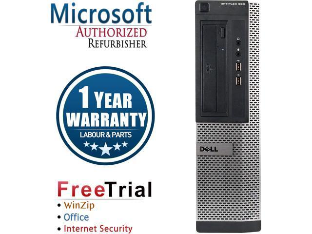 DELL Desktop Computer OptiPlex 3010 Intel Core i5 3.1 GHz 4 GB DDR3 2 TB HDD Intel HD Graphics Windows 10 Pro