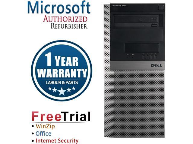 Refurbished Dell OPTIPLEX 980 Tower Intel Core I7 860 2.8G / 8G DDR3 / 1TB / DVDRW /  Windows 10 Professional / 1 Year Warranty