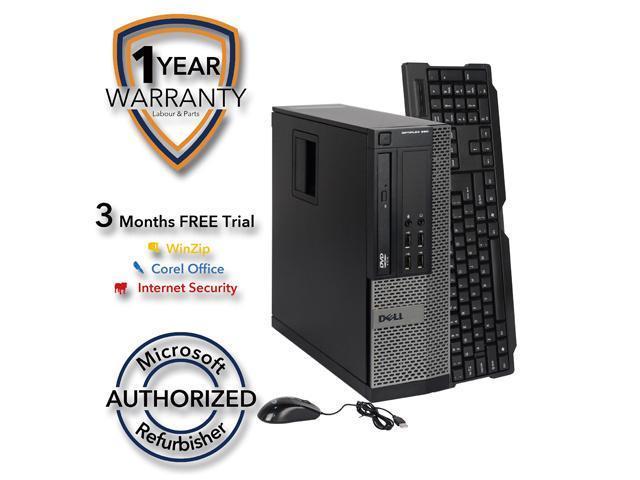 DELL Desktop Computer OptiPlex 990 Intel Core i5 3.1 GHz 8 GB DDR3 2 TB HDD Intel HD Graphics Windows 10 Pro