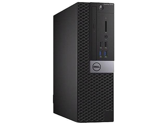 DELL Desktop Computer OptiPlex 5040 Intel Core i3 6th Gen 6100 (3.70 GHz) 4 GB 500 GB HDD Intel HD Graphics 530 Windows 10 Pro 64-Bit