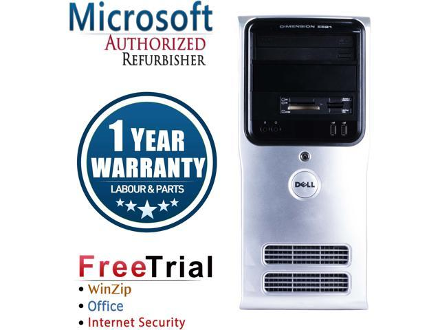 Refurbished Dell Inspiron 530 Tower Intel Core 2 Duo E7600 3.06G / 4G DDR2 / 160G / DVD / Windows 10 Professional 64 Bits / 1 Year Warranty