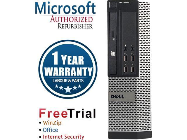 Refurbished Dell Optiplex 9020 SFF Intel Core Intel Core I7 4770 3.4G / 8G DDR3 / 1TB / DVDRW / Windows 10 Professional 64 Bits / 1 Year Warranty