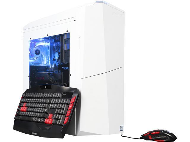 CyberpowerPC Desktop Computer Gamer Xtreme S146 Intel Core i5 6th Gen 6600K (3.50 GHz) 8 GB DDR4 2 TB HDD 120 GB SSD AMD Radeon RX 480 Windows 10 Home 64-Bit
