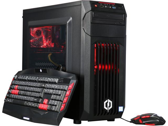 CyberpowerPC Desktop Computer Gamer Xtreme S107 Intel Core i5 6th Gen 6600 (3.30 GHz) 8 GB DDR4 2 TB HDD AMD Radeon RX 480 Windows 10 Home 64-bit