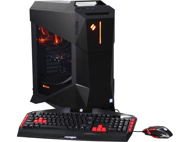 CyberpowerPC Desktop Computer SYBER M VR200 Intel Core i5 6th Gen 6600K (3.50 GHz) 8 GB DDR4 1 TB HDD 120 GB SSD NVIDIA GeForce GTX 1060 Windows 10 Home 64-Bit