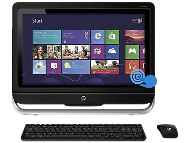"HP Desktop PC TOUCHSMART 23-F251 A6-Series APU A6-5200 (2.00 GHz) 4 GB DDR3 1 TB HDD 23"" Touchscreen Windows 8"