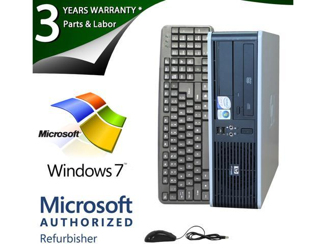 HP Desktop PC DC7900 Core 2 Duo 3.0 GHz 4GB 1 TB HDD Windows 7 Professional 64-bit