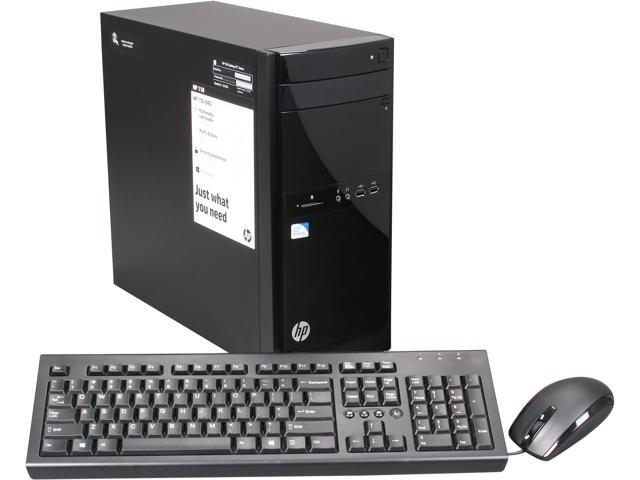 HP Desktop PC 110-040 (H5P43AA#ABA) Pentium G2020T (2.50 GHz) 4 GB DDR3 1 TB HDD Intel HD Graphics Windows 8