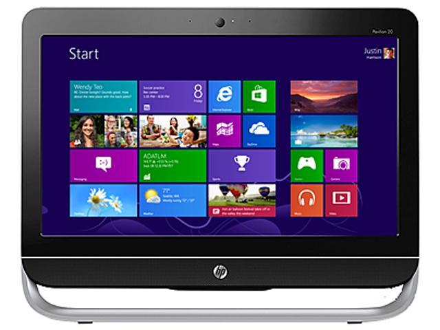 HP All-in-One PC ENVY 20-b014 (H3Z01AAR#ABA) AMD Dual-Core Processor E1-1200 (1.40 GHz) 4 GB DDR3 1 TB HDD 20