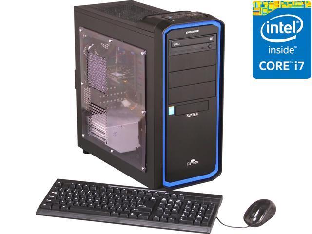 Avatar Desktop PC Gaming I7-4765 (Gen4) Intel Core i7 4770 (3.40 GHz) 8 GB DDR3 1 TB HDD NVIDIA GeForce GTX 650 1GB Windows 8 64-Bit