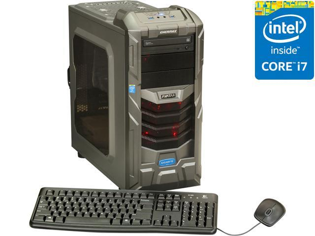 Avatar Desktop PC Gaming I7-4766ICE (4th Gen) Intel Core i7 4770K (3.50 GHz) 16 GB DDR3 2TB HDD + 120GB SSD HDD NVIDIA GeForce GTX 660 2GB GDDR5 Windows 8 64-Bit