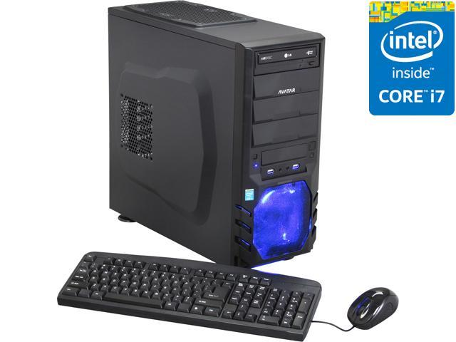 Avatar Desktop PC Gaming I7-47 (Gen4) Intel Core i7 4770 (3.40 GHz) 8 GB DDR3 1 TB HDD Intel HD Graphics 4600 Windows 8