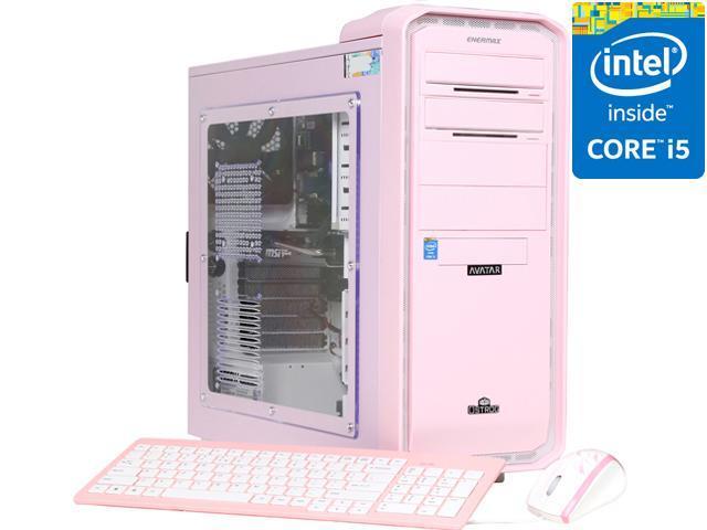 Avatar Desktop PC Pink PC Gaming I5-4566pink Intel Core i5 4570 (3.20 GHz) 8 GB DDR3 1 TB HDD Windows 8 64-bit