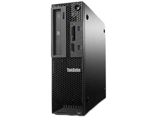 Lenovo Desktop PC ThinkStation E32 (30A30020US) Xeon 3.4 GHz 8 GB DDR3 180GB SSD HDD Windows 7 Professional 64-bit