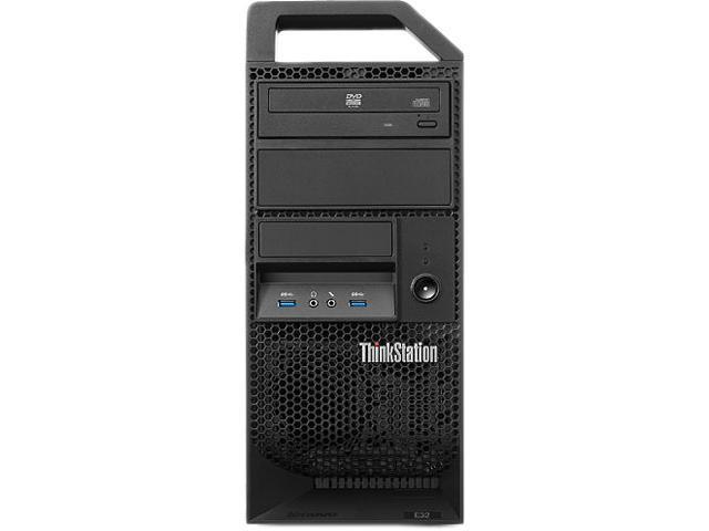 ThinkStation Desktop PC E32 (30A1000SUS) Intel Core i3 4330 (3.5 GHz) 4 GB DDR3 500 GB HDD Windows 7 Professional 64-bit