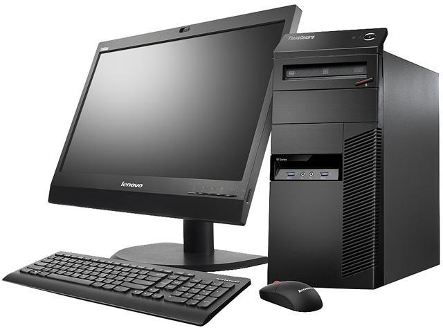 Lenovo ThinkCentre M83 10AL000BUS Desktop Computer - Intel Core i5 i5-4670 3.4GHz - Mini-tower - Business Black