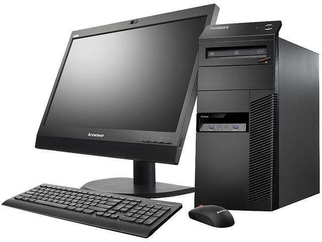 Lenovo ThinkCentre 10AL000LUS Desktop Computer - Intel Pentium G3220 3 GHz - Mini-tower - Business Black