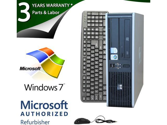 HP Desktop PC DC5800 Core 2 Duo E8400 (3.00 GHz) 4GB 1 TB HDD Windows 7 Professional 64-bit