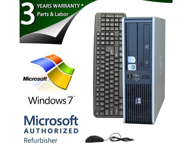 HP Compaq Desktop PC DC7800 Core 2 Duo E6550 (2.33 GHz) 2GB 80 GB HDD Windows 7 Home Premium 64-Bit