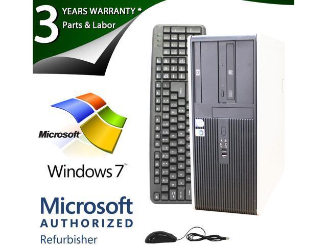HP Compaq Desktop PC DC7800 Core 2 Duo E6750 (2.66 GHz) 4GB 120 GB HDD Windows 7 Home Premium 64-Bit