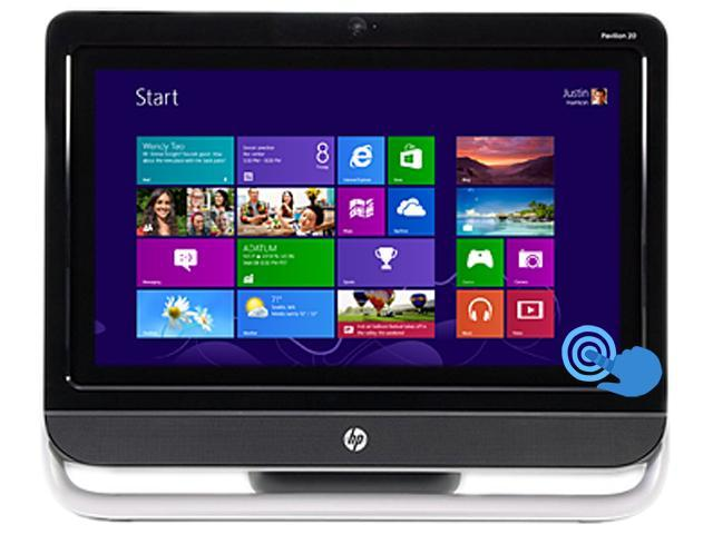 HP All-in-One PC Pavilion 20-F323 (H6V30AAR#ABA) AMD Dual-Core Processor E1-2500 (1.40 GHz) 4GB 500 GB HDD 20
