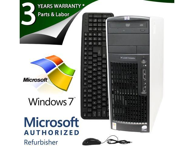 HP Desktop PC XW6400 XEON 5150 (2.66 GHz) 4GB 750 GB HDD Windows 7 Professional 64-Bit