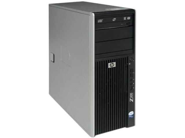 HP Z400 [Microsoft Authorized Recertified] Tower Workstation with Intel Xeon Quad Core E5620 2.40Ghz, 4GB Memory, 250GB HDD, DVDRW, Windows 7 Professional 64 Bit