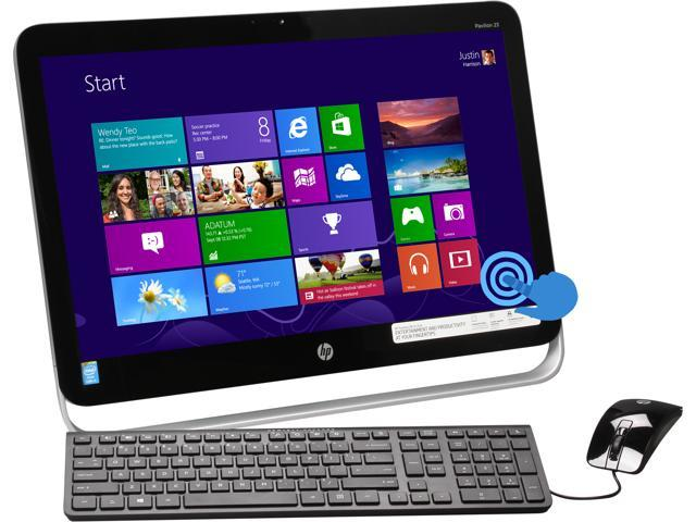 "HP All-in-One PC Pavilion 23-p010 Intel Core i3 4130T (2.90 GHz) 6 GB DDR3 1 TB HDD 23"" Touchscreen Windows 8.1"