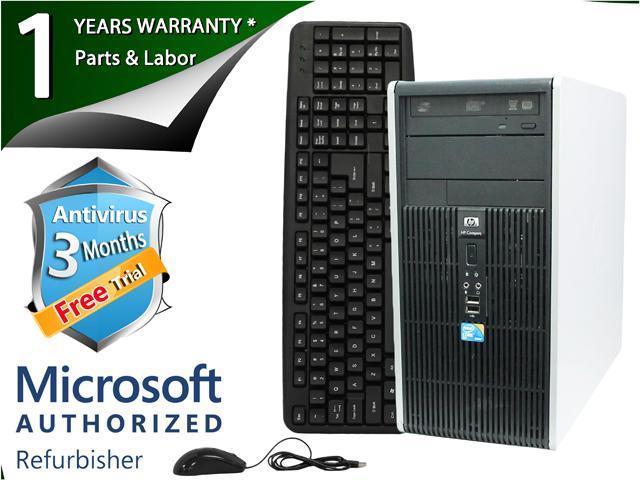 HP Desktop Computer DC5800 Core 2 Duo E8400 (3.00 GHz) 4 GB DDR2 160 GB HDD Intel GMA 3100 Windows 7 Professional 64-Bit