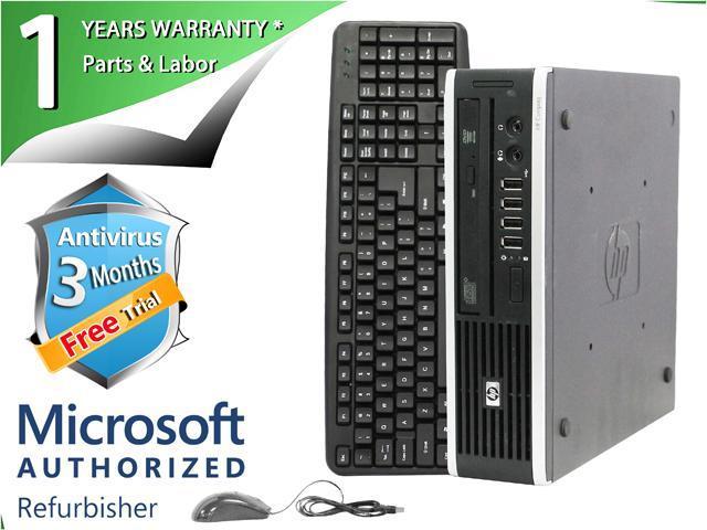 HP Desktop Computer Elite 8000 Core 2 Duo E8400 (3.00 GHz) 4 GB DDR3 160 GB HDD Windows 7 Professional 64-Bit