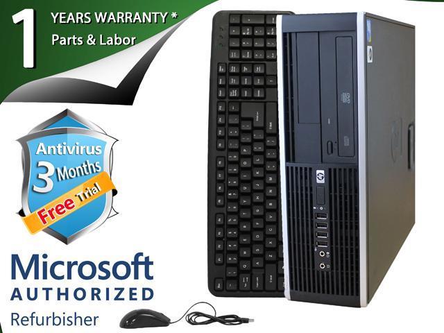 HP Desktop Computer ELITE 8000 Core 2 Duo E8400 (3.00 GHz) 8 GB DDR3 1 TB HDD Intel GMA 4500 Windows 7 Professional 64-Bit