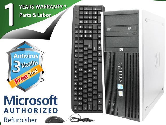 HP Desktop Computer ELITE 8000 Core 2 Duo E8400 (3.00 GHz) 4 GB DDR3 1 TB HDD Intel GMA 4500 Windows 7 Professional 64-Bit