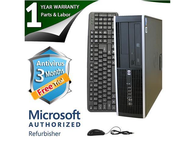 HP Desktop Computer 6000 Pro Pentium E6300 (2.80 GHz) 8 GB DDR3 250 GB HDD Intel GMA 4500 Windows 7 Professional 64-Bit