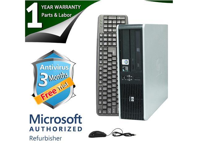 HP Desktop Computer DC5850 Athlon 64 X2 5400B (2.80 GHz) 4 GB DDR2 320 GB HDD ATI Radeon 3100 IGP Windows 7 Home Premium 64-Bit