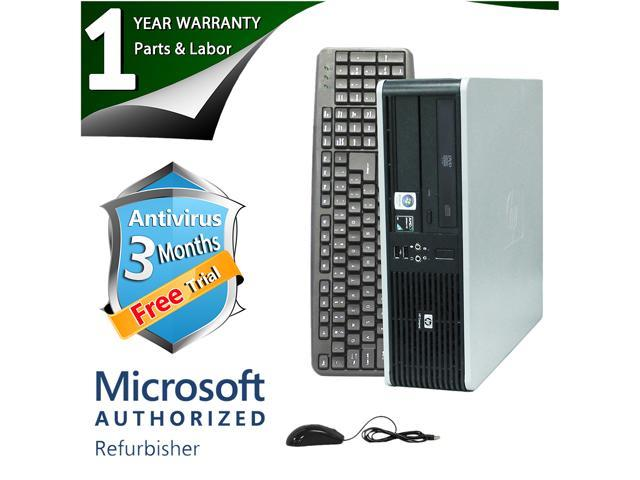 HP Desktop Computer DC5850 Athlon 64 X2 5400B (2.8 GHz) 4 GB DDR2 1 TB HDD ATI Radeon 3100 IGP Windows 7 Home Premium 64-Bit