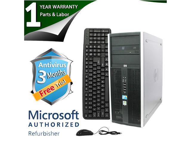 HP Desktop Computer Elite 8000 Core 2 Duo E8500 (3.16 GHz) 8 GB DDR3 2 TB HDD Intel GMA 4500 Windows 7 Professional 64-Bit