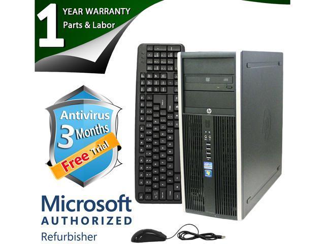 HP Desktop Computer Elite 8200 Intel Core i3 2100 (3.10 GHz) 4 GB DDR3 1 TB HDD Intel HD Graphics 2000 Windows 7 Professional 64-Bit