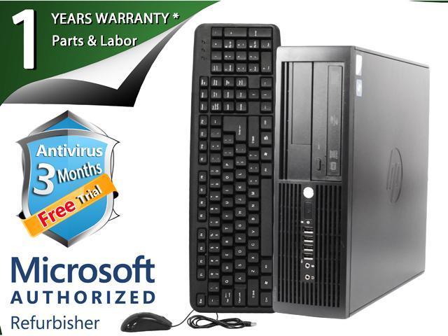 HP Desktop Computer 4000 Pro Pentium E7600 (3.06 GHz) 2 GB DDR3 160 GB HDD Windows 7 Professional 64-Bit