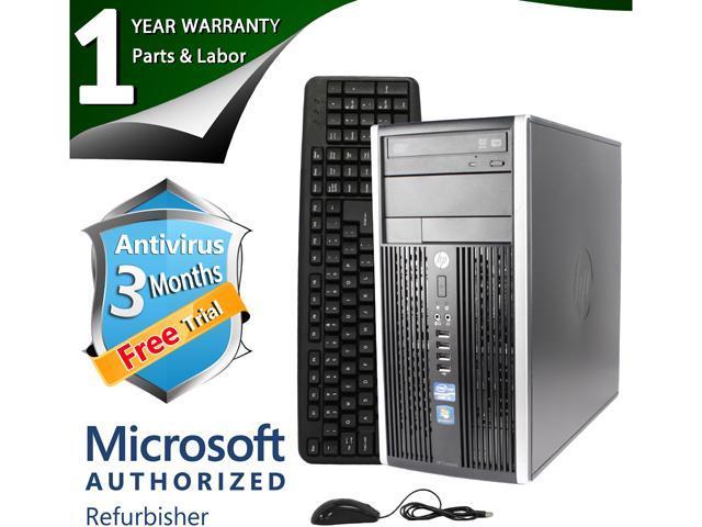 HP Desktop Computer 6200 Pro Intel Core i3 2100 (3.10 GHz) 4 GB DDR3 250 GB HDD Windows 7 Professional 64-Bit