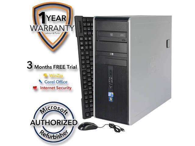 HP Desktop Computer DC7900 Core 2 Duo E8400 (3.00 GHz) 4 GB DDR2 320 GB HDD Intel GMA 4500 Windows 7 Professional 64-Bit