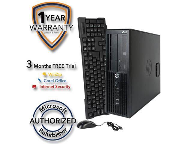 HP Desktop Computer Z220 Xeon E3-1240 v2 (3.40 GHz) 8 GB DDR3 2 TB HDD Windows 7 Professional 64-Bit