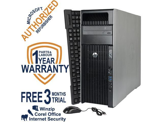 HP Desktop Computer Z620 WS Intel Xeon E5-2609 (2.4 GHz) 8 GB DDR3 1 TB HDD NVIDIA NVS 310 Windows 7 Professional 64-Bit