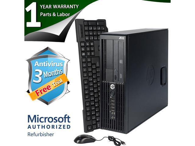 HP Desktop Computer Z210 XEON E3-1240 (3.30 GHz) 8 GB DDR3 2 TB HDD Windows 7 Professional 64 Bit
