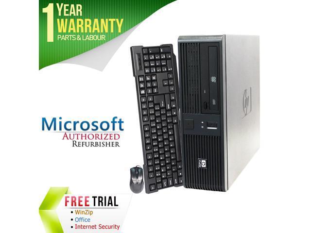 HP Desktop Computer RP5700 Core 2 Duo E6400 (2.13 GHz) 4 GB DDR2 160 GB HDD Intel GMA 3000 Windows 7 Professional 64-Bit