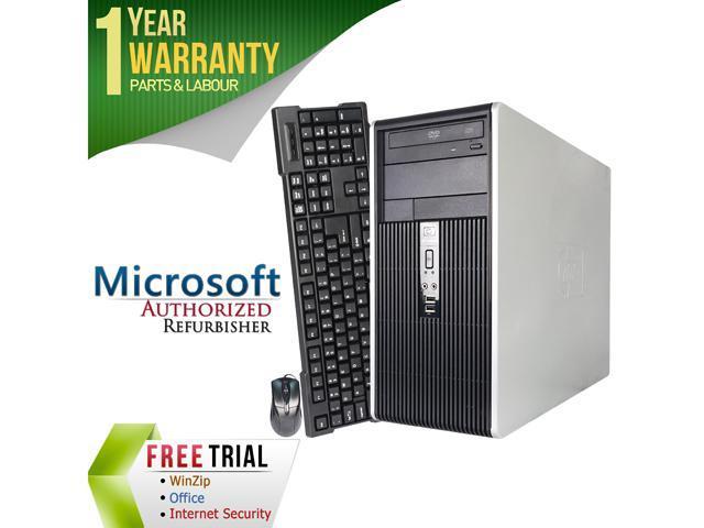 HP Desktop Computer DC5700 Pentium Dual Core E2160 (1.80 GHz) 2 GB DDR2 80 GB HDD Intel GMA 3000 Windows 7 Professional 64-Bit