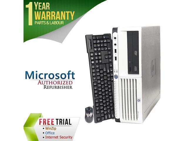 HP Desktop Computer DC7700 Core 2 Duo E6300 (1.86 GHz) 4 GB DDR2 160 GB HDD Windows 7 Professional 32-Bit