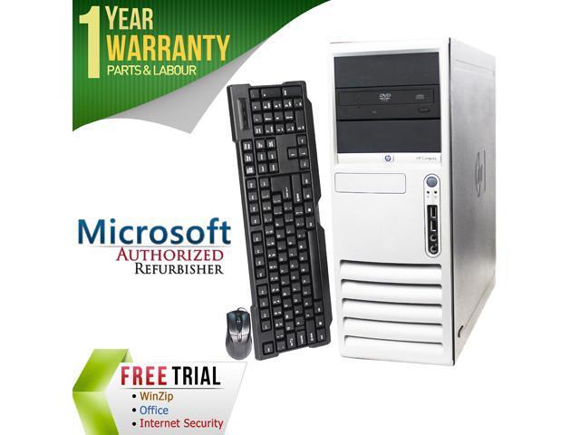 HP Desktop Computer DC7700 Core 2 Duo E6300 (1.86 GHz) 4 GB DDR2 500 GB HDD Windows 7 Professional 64-Bit