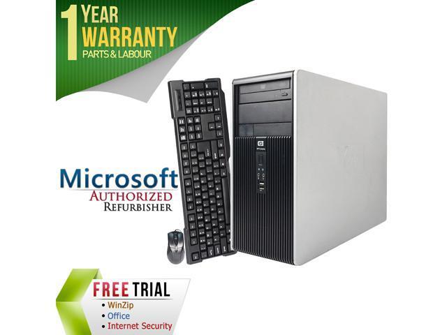 HP Desktop Computer DC5850 Athlon 64 X2 5000B (2.6 GHz) 4 GB DDR2 160 GB HDD Windows 7 Professional 64-Bit