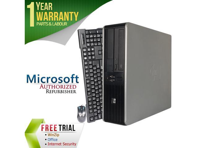 HP Desktop Computer DC7900 Core 2 Quad Q8200 (2.33 GHz) 4 GB DDR2 250 GB HDD Intel GMA 4500 Windows 7 Professional 64-Bit